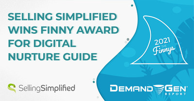 """La guía de nutrición digital """"La COVID mató a las ventas en frío"""" gana el Finny Award gracias a Selling Simplified en los premios Killer Content Awards 2021."""