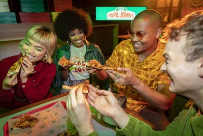 Papa John's new marketing campaign comes to life as a global pizza party