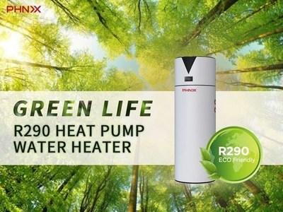 Calentador de agua PHNIX con bomba de calor, fuente de aire, tecnología Inverter y refrigerante R290 todo en uno